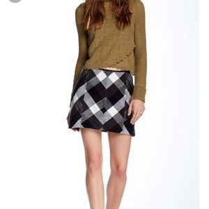Free People Twiggy plaid skirt